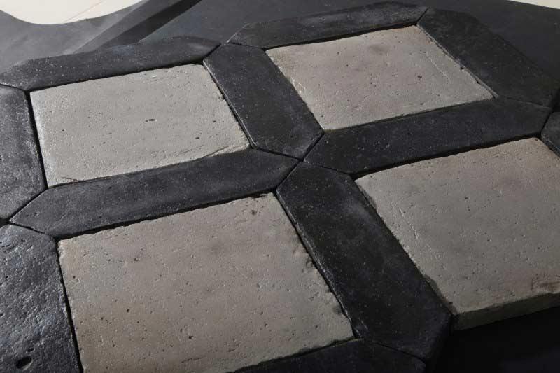 Pavimento Bianco E Grigio : Cotto fatto a mano bianco e nero per pavimenti enricopalmucci.it
