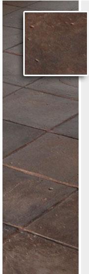 Colore cioccolato dei pavimenti della fornace Enrico palmucci