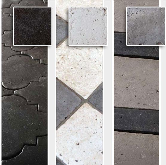 Colori nero, grigio e bianco deidei pavimenti Enrico palmucci
