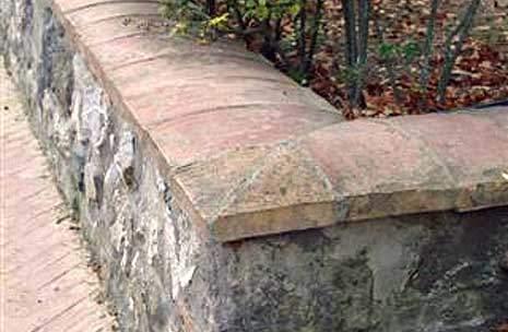 Copertine muro in cotto fatto a mano Palmucci
