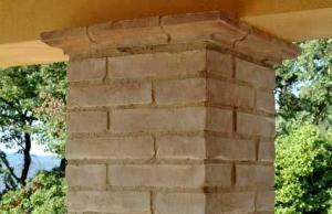Rivestimento per colonne in cotto della fornace Enrico Palmucci