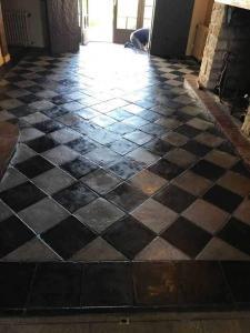 30x30 antico restauro nero grigio