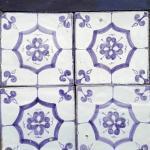 Smalto decorato 15x15 decoro viola