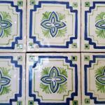 Smatlato decorato 15x15 decoro verde-blu