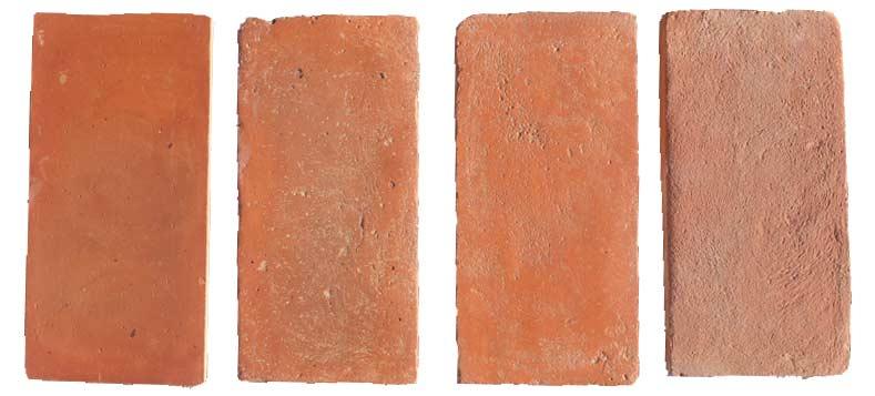 Terrecuite fait à la main, série de couleurs rouge, per le four Palmucci