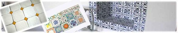 Miscellaneous glazed tiles